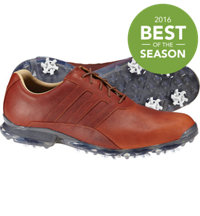 Men's Adipure ZT Spiked Golf Shoes - Cognac Brown/Dark Silver Metallic