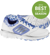Women's Adistar Sport Spikeless Golf Shoes - White/Silver Metal/Baja Blue
