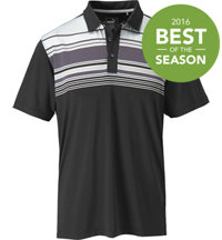 Men's Key Stripe Short Sleeve Polo