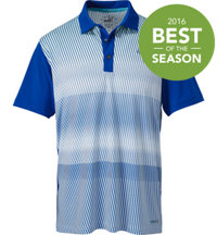 Men's Brushstripe Short Sleeve Polo