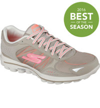 Women's  GOWalk 2 Lynx Ballistic Spikeless Golf Shoes - Nat/Coral (#13638-NTCL)
