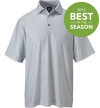 Men's Check Print Short Sleeve Polo