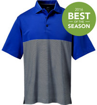 Men's Contrast Stripe Short Sleeve Polo