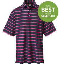 Men's Lisle Stripe Short Sleeve Polo