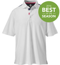 Men's Pieced Back Short Sleeve Polo