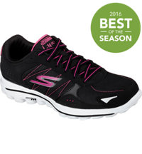 Women's GOWalk 2 Lynx Ballistic Spikeless Golf Shoes - Blk/Pnk (#13638-BKHP)