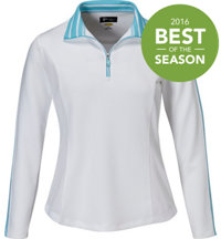 Women's Stripe Trim Quarter-Zip Pullover