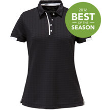 Women's Textured Short Sleeve Polo