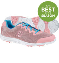 Women's EnJoy Engineered Mesh All Over Spikeless Golf Shoes - Pink Rose (FJ#95700)