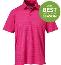 Men's Playoff Power In Pink Stripe Polo