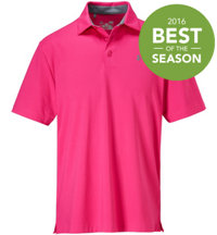Men's Playoff Power in Pink Solid Polo