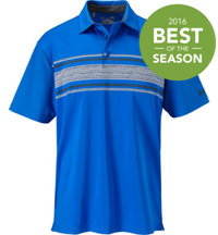 Men's Playoff Space Dye Stripe Short Sleeve Polo