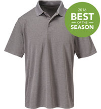 Men's Essential Heathered Short Sleeve Polo