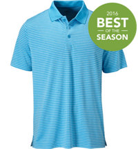Men's Seasonal Heathered Stripe Short Sleeve Polo