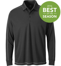 Men's Essential Solid Long Sleeve Polo