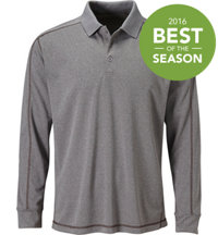 Men's Seasonal Heathered Long Sleeve Polo