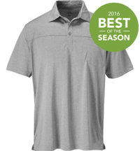 Men's Heathered Pocket Short Sleeve Polo