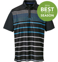 Men's Graphic Stripe Short Sleeve Polo