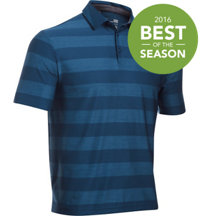 Men's Playoff Tonal Stripe Short Sleeve Polo