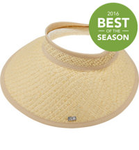 Women's Wide Brim Straw Visor