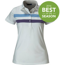 Women's Sofia Stripe Short Sleeve Polo