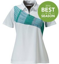 Women's Placed Print Short Sleeve Polo