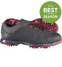 Men's Lunar Fire Spiked Golf Shoes - Black/Anthracite/University Red
