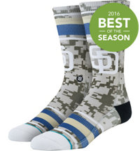 Men's MLB Diamond Padres Socks