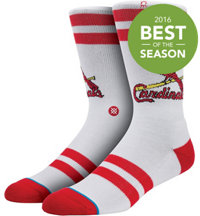 Men's MLB Diamond Red Birds Socks