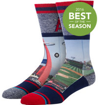 Men's MLB Stadium Big A Socks