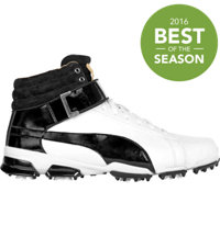 Men's Titantour Ignite Hi-Top Spiked Golf Shoe-White/Black