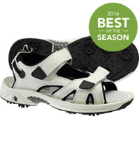 Women's Spiked Golf Sandals - Beige/Black