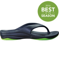 Junior's Premium Flip Flops (Navy/Lime Green)