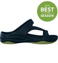 Premium Women's Z Sandals with Rubber Sole Casual Shoes (Navy/Lime Green)