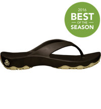 Junior's Premium Destination Flip Flops (Dark Brown/Tan)