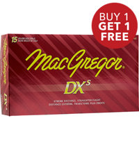 DXs Yellow Golf Balls - 15 PACK