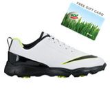 Juniors Control Spiked Golf Shoe-White/Black