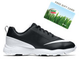 Junior's Control Spiked Golf Shoes - Black/White