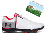 Junior's Spieth One Spiked Golf Shoe-White/Black/Red