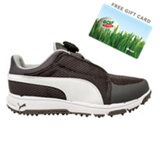 Junior Grip Sport Disc Spikeless Golf Shoe - Gry/Wht/Blu