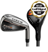 King F6 3-4H, 4-5H, 6-PW, GW Combo Iron Set with Graphite Shafts