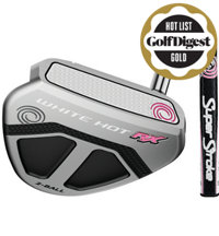 Lady White Hot RX Mallet Putter with SuperStroke