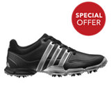 Men's Powerband Spiked Golf Shoes - BLK/SILVER