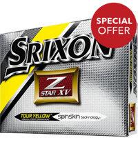 Personalized Z-Star XV Yellow Golf Balls