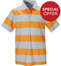 Boy's Nike Bold Stripe Short Sleeve Polo