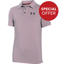 Boy's Playoff Heathered Stripe Short Sleeve Polo
