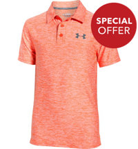 Boy's Playoff Heathered Short Sleeve Polo