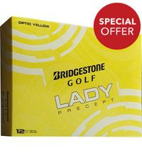 Personalized Lady Precept Yellow Golf Balls