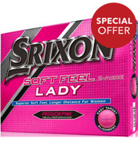 Personalized Soft Feel Lady Passion Pink Golf Balls