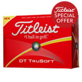 DT TruSoft Yellow Personalized Golf Balls